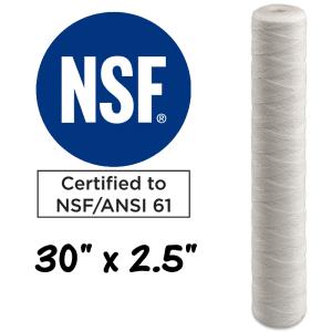 "30""x2.5"" String Wound Polypropylene Sediment Filter Cartridge. Australia"