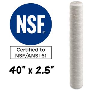 "40""x2.5"" String Wound Polypropylene Sediment Filter Cartridge. Australia"