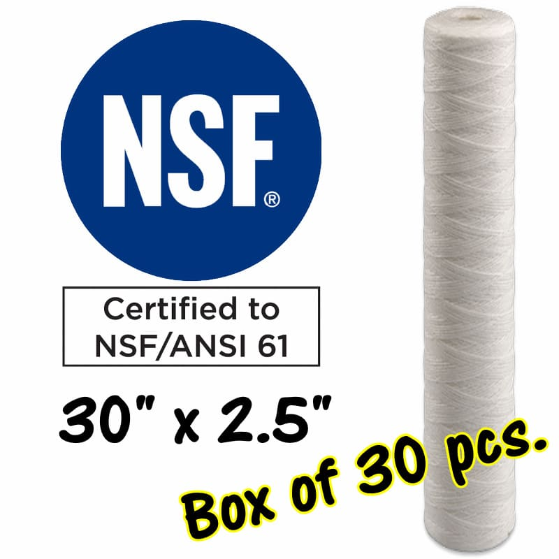 "30""x2.5"" Quality Water Filter Cartridges -Sediment Cartridges - Australia"