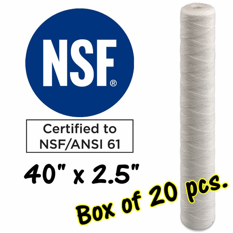 "40""x2.5"" Quality Water Filter Cartridges -Sediment Cartridges - Australia"
