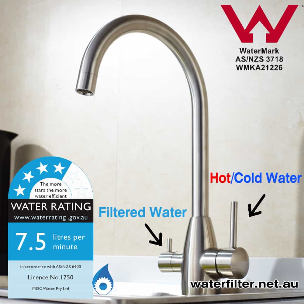 Stainless Steel 3 way Mixer Tap