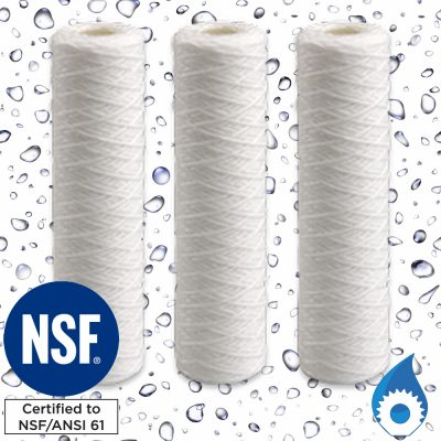 10 inch String Wound Sediment Water Filter Cartridge Australia