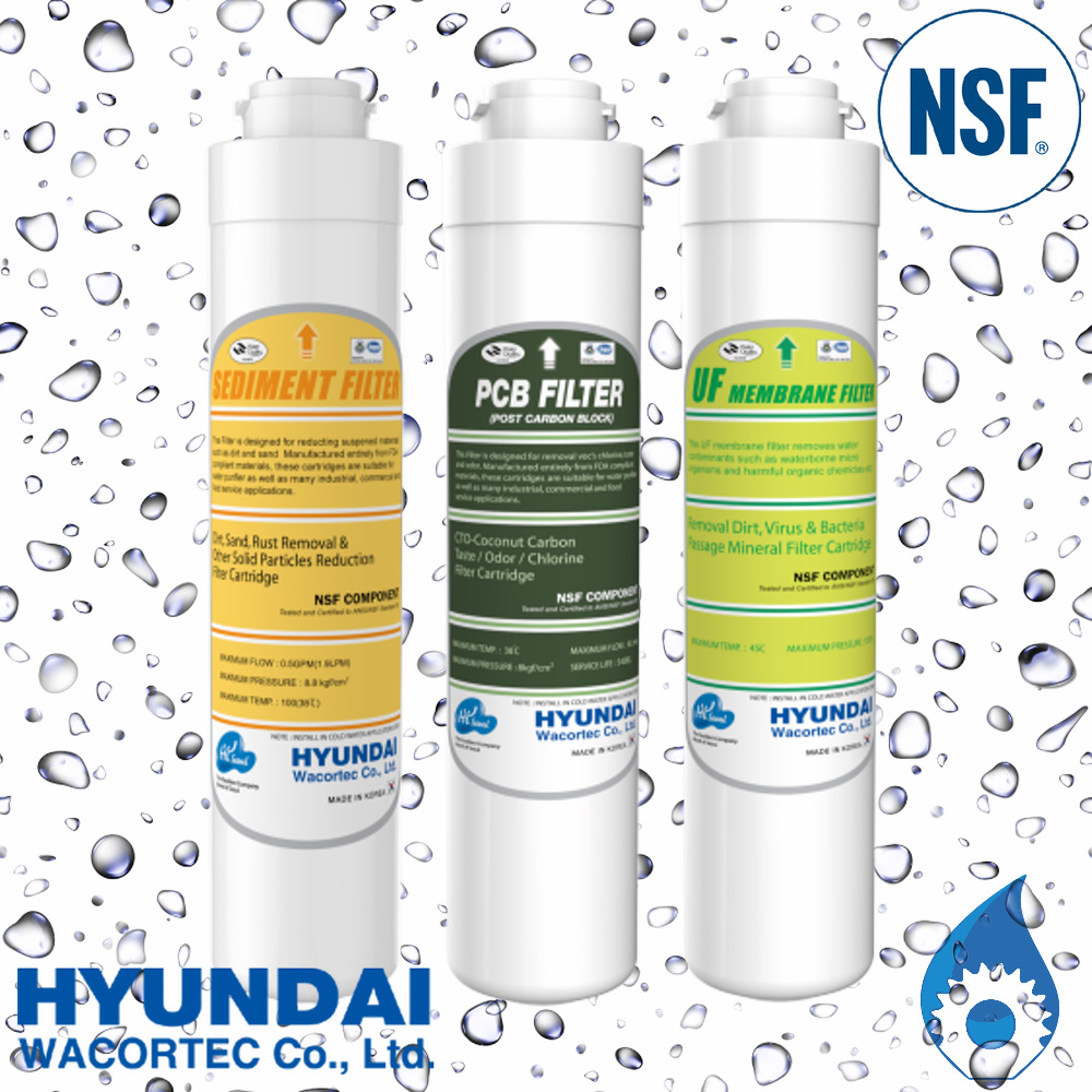 HYUNDAI Sediment Carbon and UF Filter Cartridge Pack