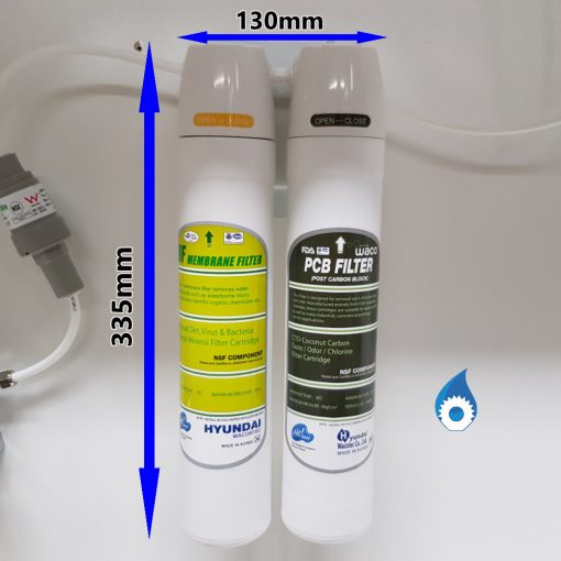 Twin UnderSink Water Filter Dimensions Australia