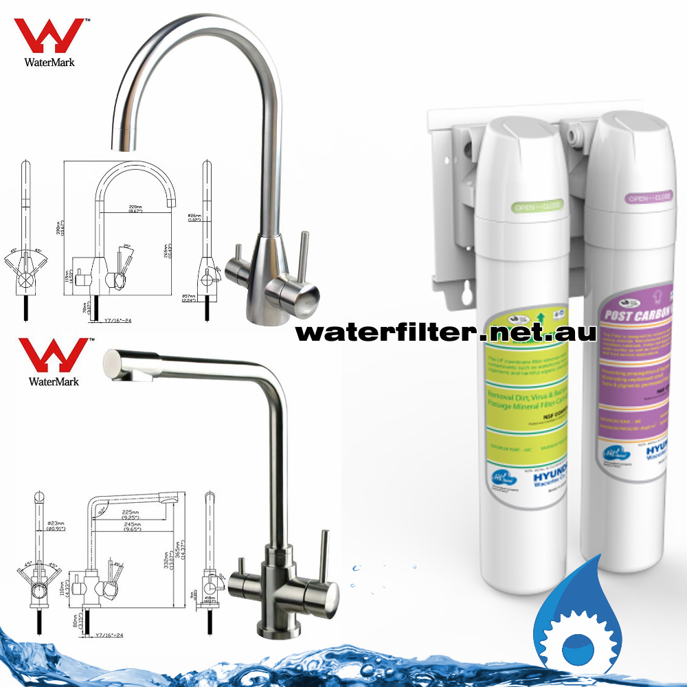 3 way mixer tap with filter Australia