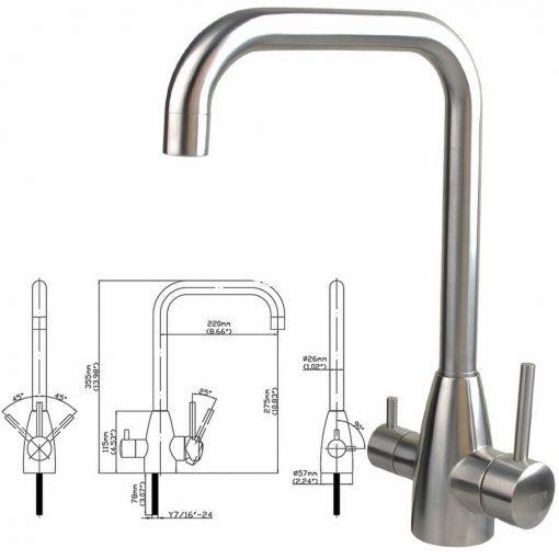 Three way Tap Kitchen Filtered Water