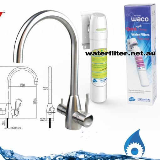 3 way mixer tap with filter