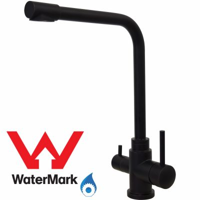 3 Way Mixer Tap Mat Black