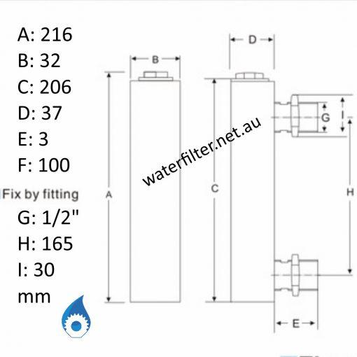 Water Flow Meter Rotameter Dimensions