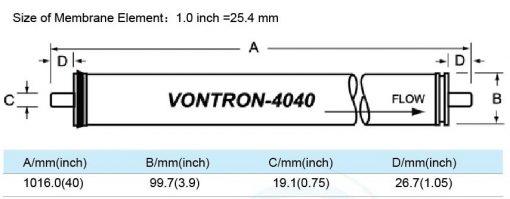 4040 Vontron ULP11 Membrane