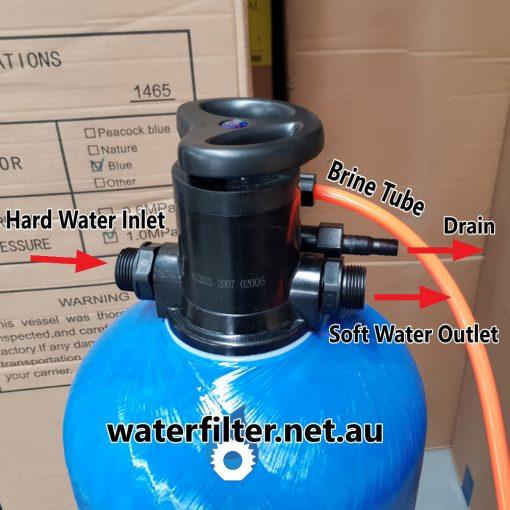 Small Manual Water Softener Installtion