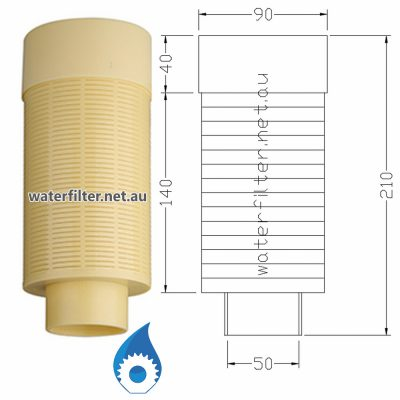 1.5 Inch Top Distributor Basket for Softener Filter Valve Head Australia