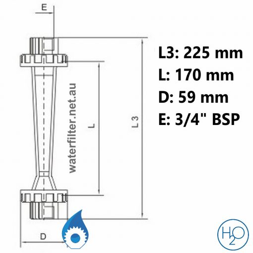 Pipe Mounted Water Flow Meter -25