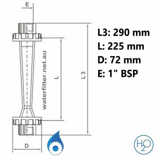 Pipe Mounted Water Rotameter -32