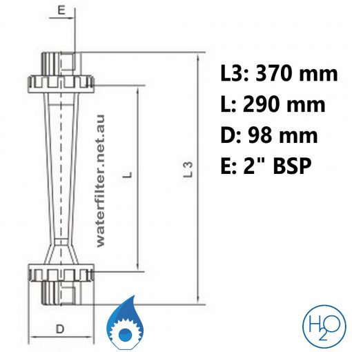 Pipe Mounted Water Rotameter Australia -50