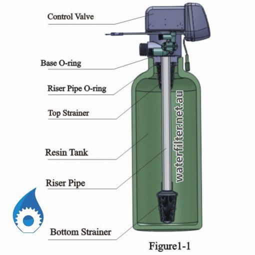 Upper and Bottom Strainer Basket Screen For Water Softener Filter Australia